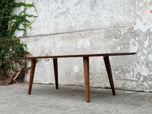 Elegant Walnut Sleek Coffee Table