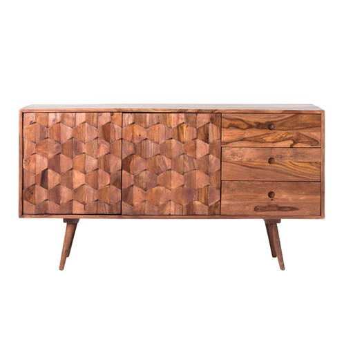 Sculptural Sideboard Mid Century Credenza Made Of Solid Sheesham Wood Handcrafted Through In And Out This Piece Makes A True Statement Whether It