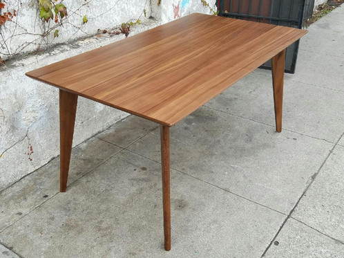 Perfect Sleek American Walnut Dining Table Part 28