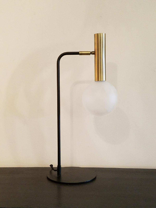 U201cMikau201d Led Brass And Black Touch And Turn On Task Lamp