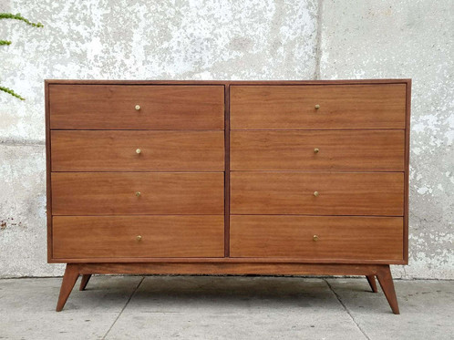 8 Drawer Fontaine Handmade Walnut Dresser