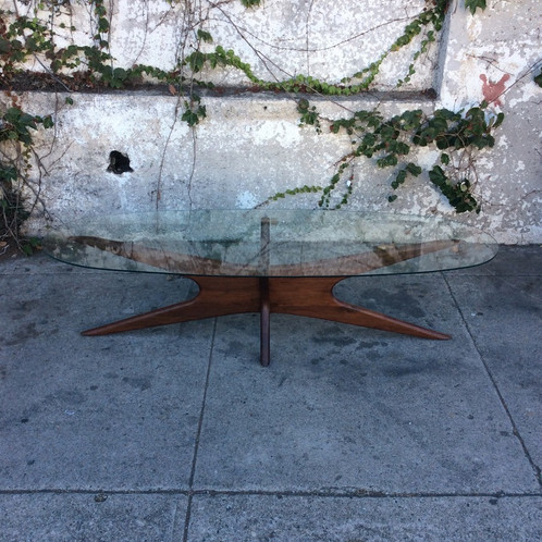 Terrific Solid Walnut Sculptural Boomerang Coffee Table Evergreenethics Interior Chair Design Evergreenethicsorg