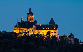 Wernigerode Germany castle at night.jpg