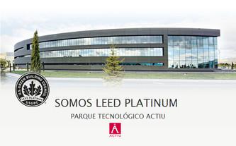 "Noticias ACTIU: ""Somos LEED Platinum"""