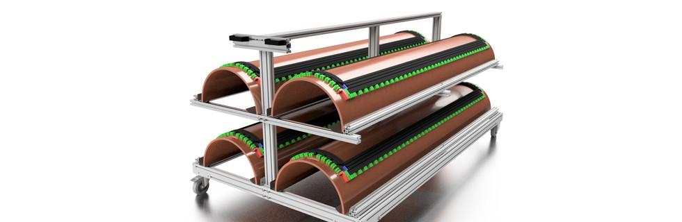 Rotary Dies Trolley 3D Design