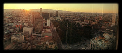 Sunset above Mexico City