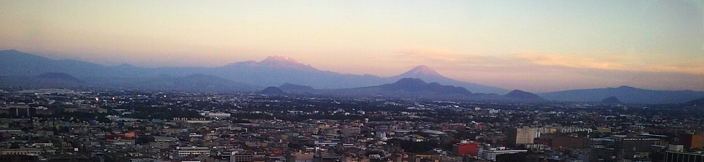 Volcans at Sunset