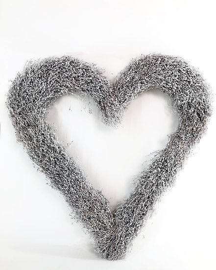 Herz offen Weiß gewachst