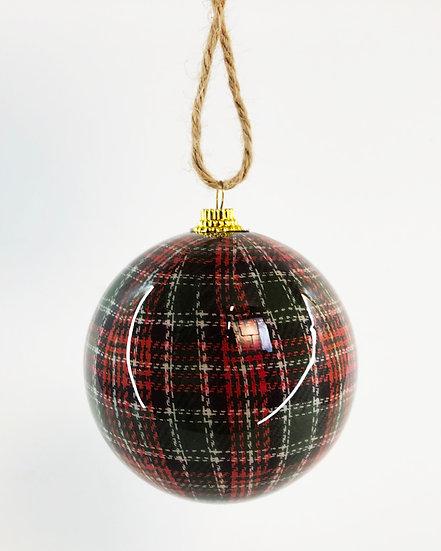 Weihnachts Kugel Karo 7cm