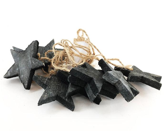 Holzsterne Christbaumschmuck 10 Stück 7cm