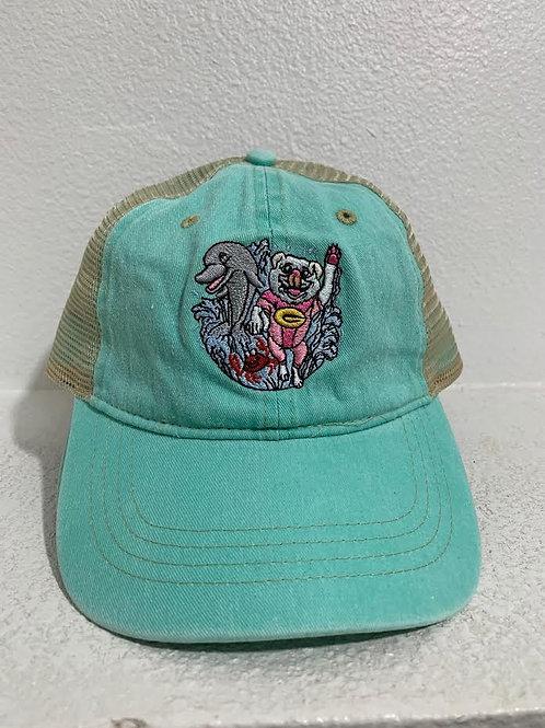 Embroidered Surf Gidget Cartoon Baseball Cap