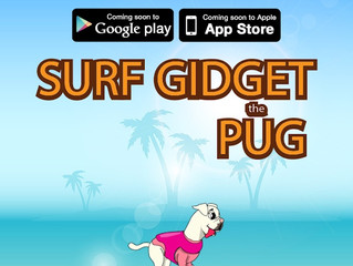 Surf Gidget The Pug Environmental Game