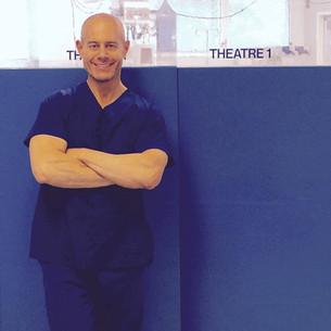 Dr Ces Colagrande - ready for theatre