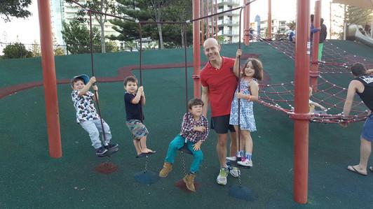 Dr Ces Colagrande - happy kids at park