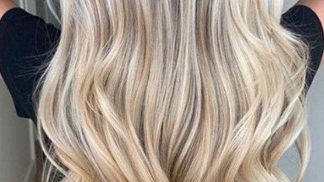 Clip-In Remy Human Hair Extension 10/613 Ash Blonde Highlights
