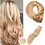 Thumbnail: Clip-In Remy Human Hair Extension 27/613 Warm Blonde Highlights