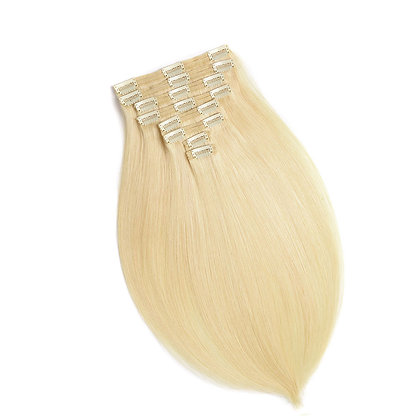 Clip-In Remy Human Hair Extension 613 Light Golden Blonde