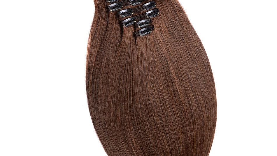 Clip-In Remy Human Hair Extension 4 Medium Brown