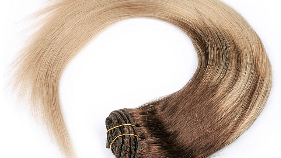 Clip-In Remy Human Hair Extension Light Balayage/ Ombre