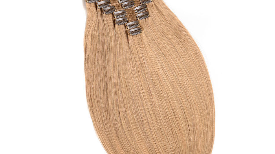 Clip-In Remy Human Hair Extension 27 Honey Blonde