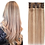 Thumbnail: Clip-In Remy Human Hair Extension 18/613 Honey Blonde Highlights