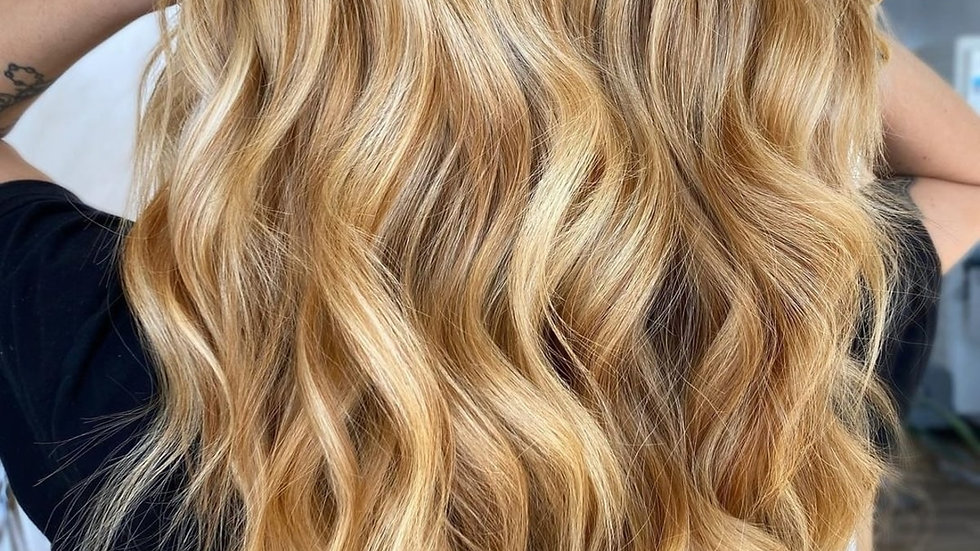 Clip-In Remy Human Hair Extension 27/613 Warm Blonde Highlights