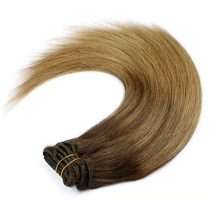 Clip-In Remy Human Hair Extension B2/8 Dark Ombre