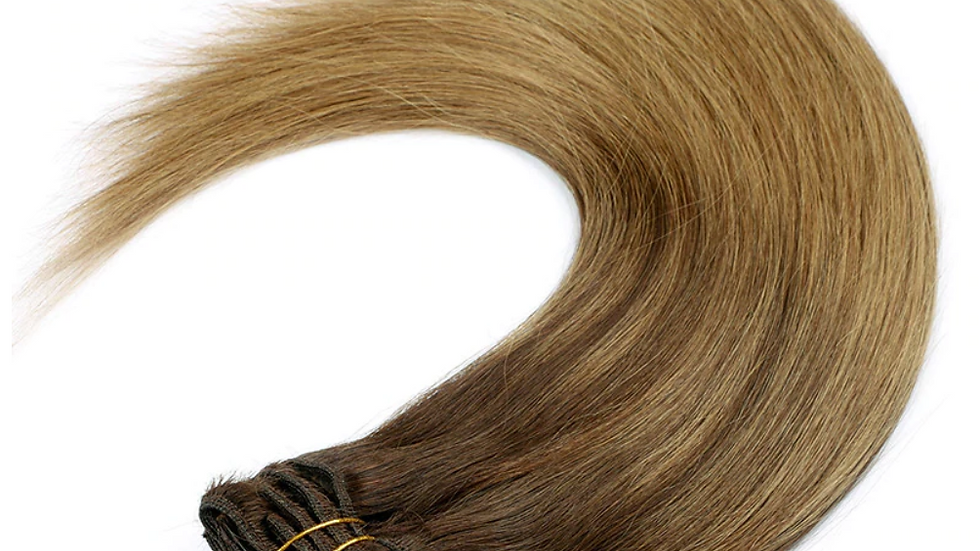 Clip-In Remy Human Hair Extension B2/8 Dark Balayage/ Ombre