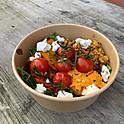 Salade van Pompoen, Geitenkaas en Quinoa