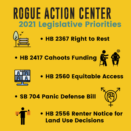 Rogue Action Center 2021 Endorsed Bills