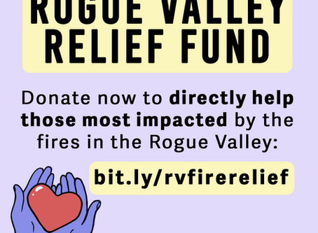 Rogue Valley Fire Relief Resources and Information