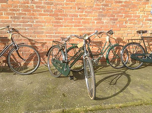 Hiring 1940's vintage bikes. Only £10pp per day!_Choose from Sidney, Phylis, Betty or Haro