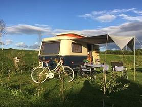 Vintage caravan with Claudette..jpg