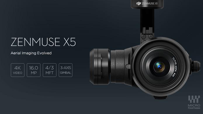 New Micro Four Thirds Camera for DJI Inspire 1 Quadcopter