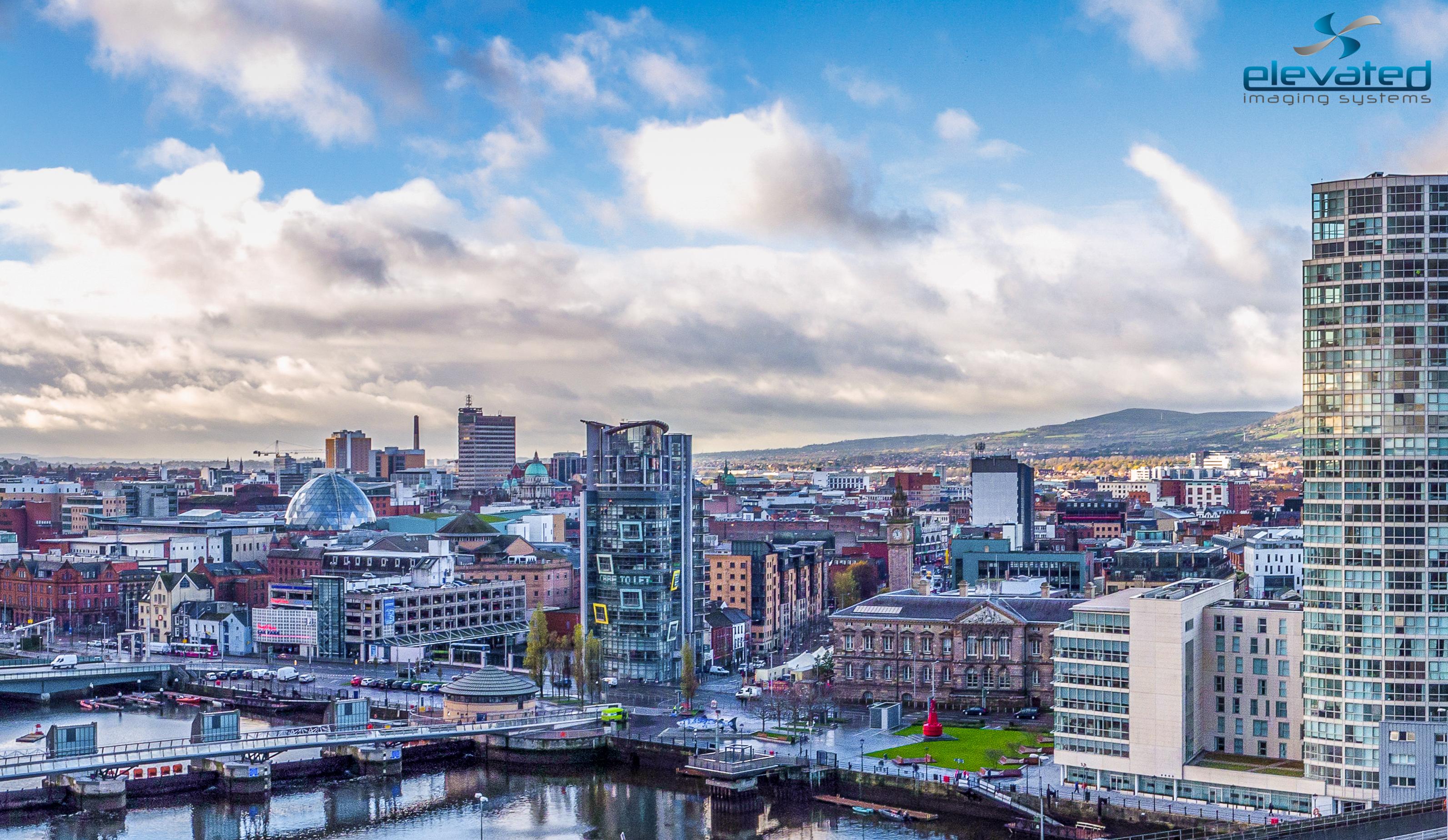 Drone Ireland Obel Belfast Aerial