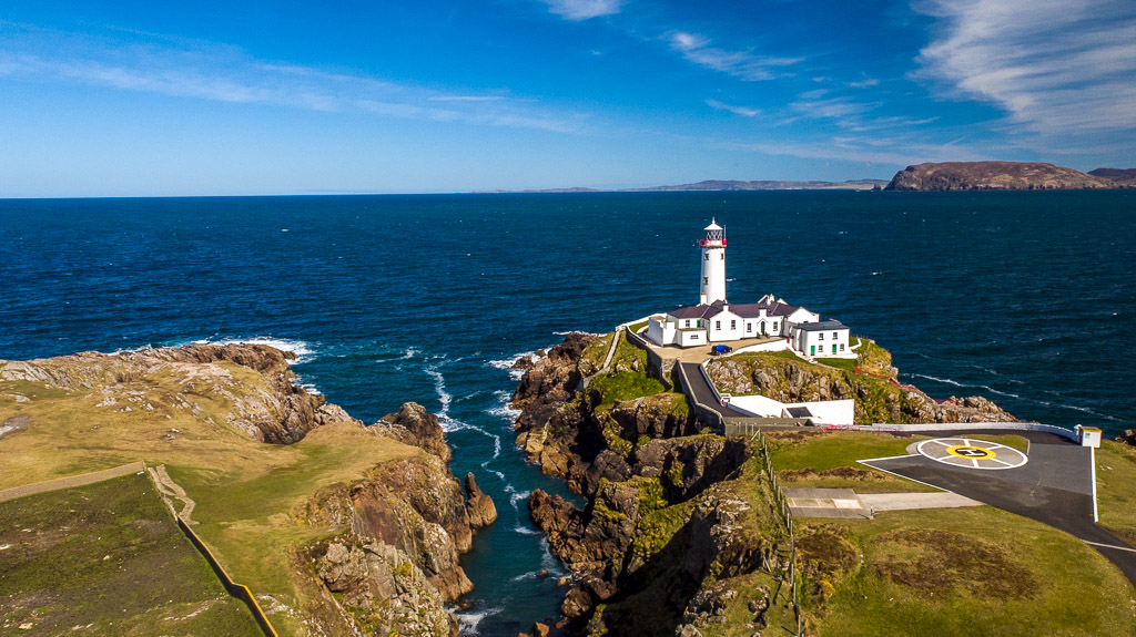 Fanad Head Lighthouse Elevated Imaging Systems Aerial Drone UAV Photography and Video Donegal