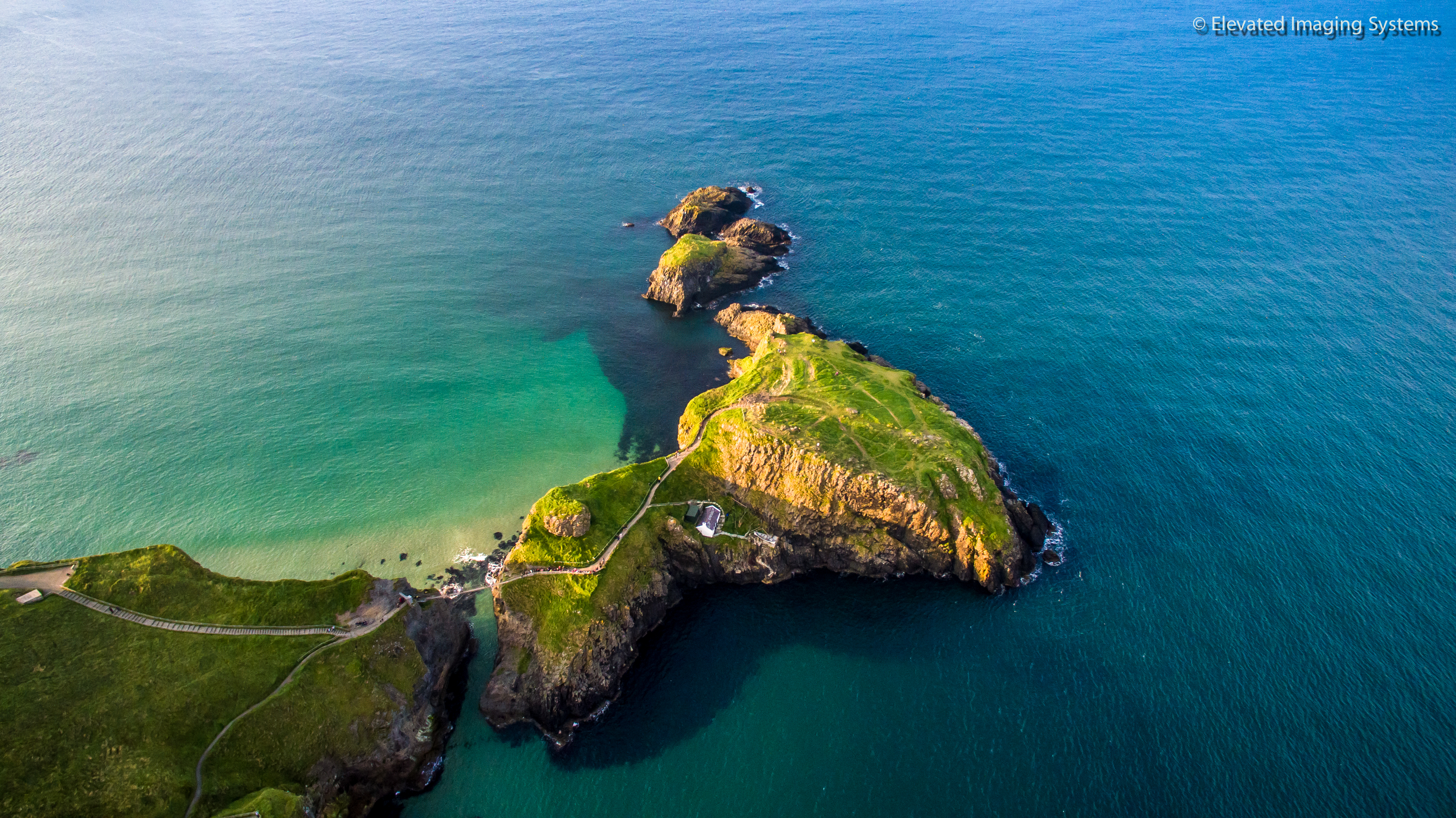 Carrick-a-rede Co Antrim Drone Photo