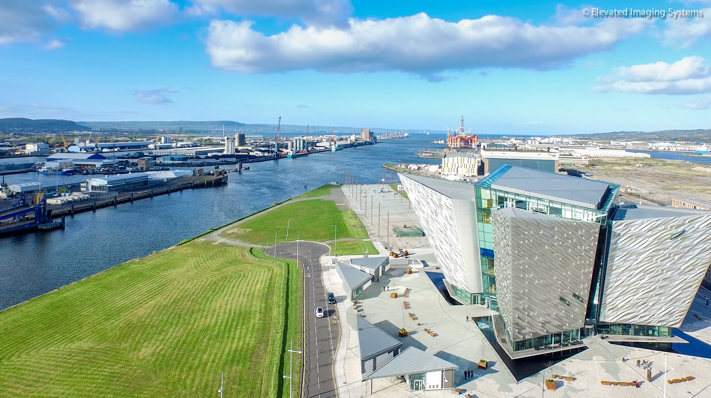 Titanic Belfast aerial drone photo