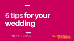 5 tips for your wedding