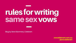 The rules to writing your same sex vows