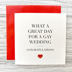 GW-S013 What a great day for a gay weddi