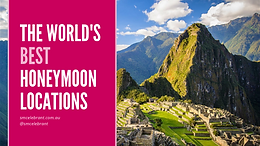 The world's best honeymoon destinations by month