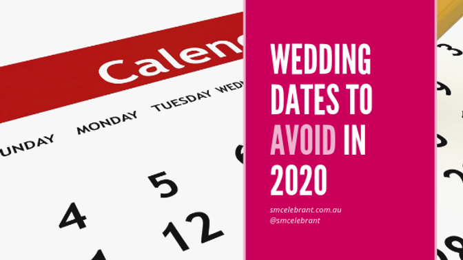 Wedding dates to avoid in 2020