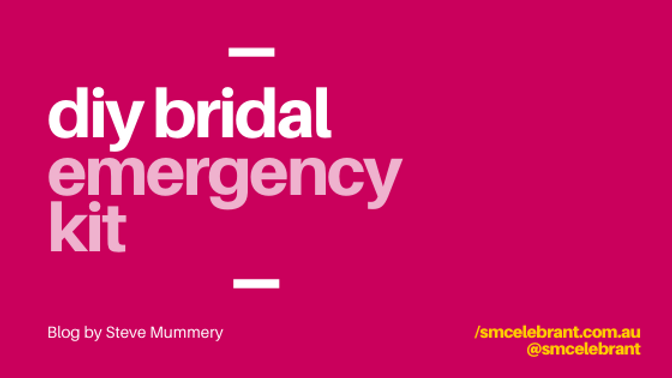 DIY bridal emergency kit