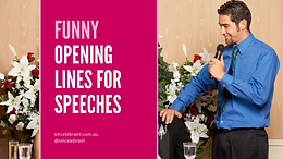 Opening lines for wedding speeches