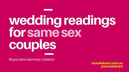 Wedding readings for gay couples