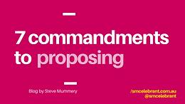 7 commandments of proposing