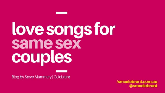 Love songs for same sex couples