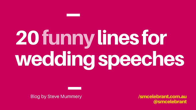 20 funny lines for wedding speeches