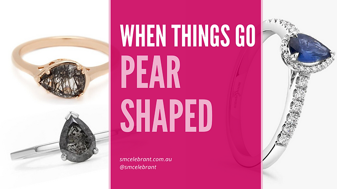 Let's go pear shaped!